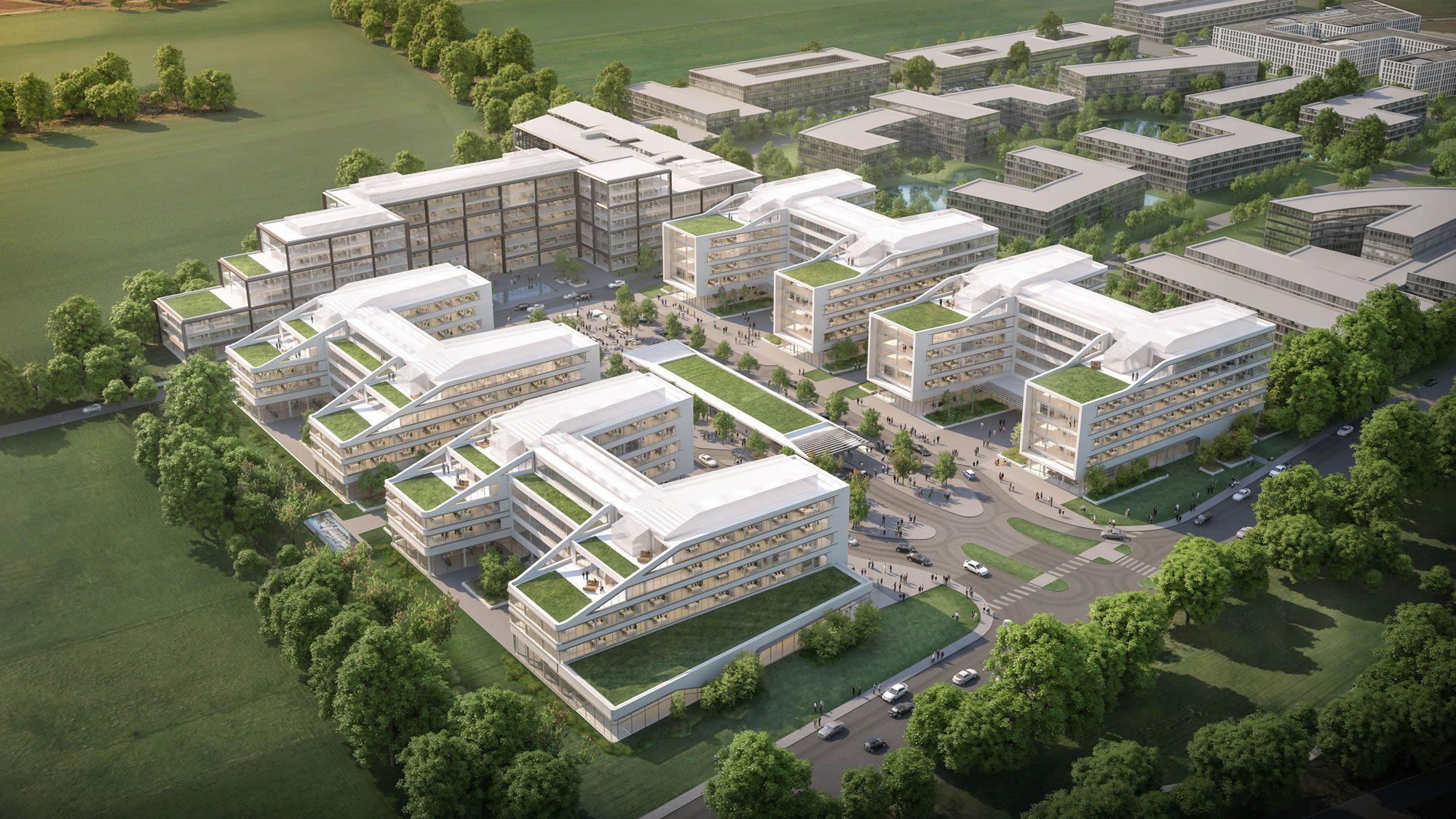 Koryfeum_02 Vogelperspektive Campus Phase II 010_Koryfeum Unterschleissheim